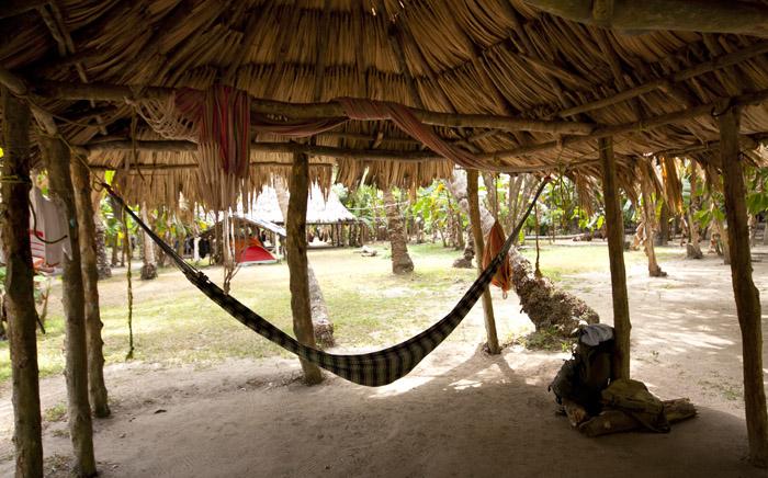 Campeggio al parco Tayrona