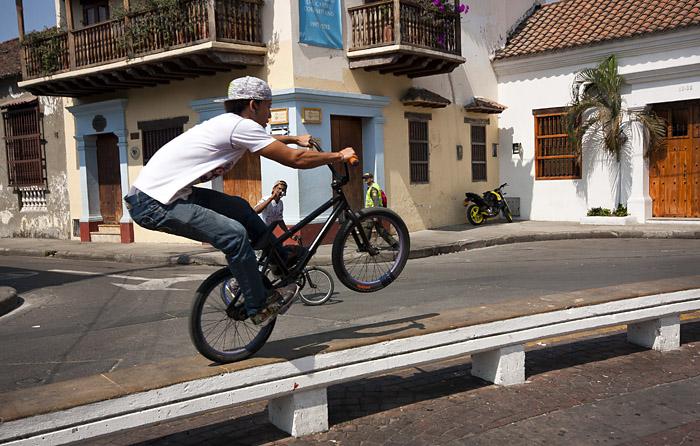 Ragazzo in bici, Cartagena