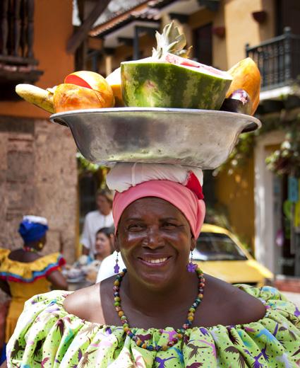 Signora con frutta, Cartagena