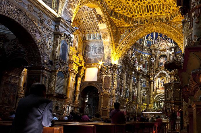 Chiesa a Quito, Ecuador