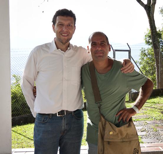 Io col nipote di Pablo Escobar