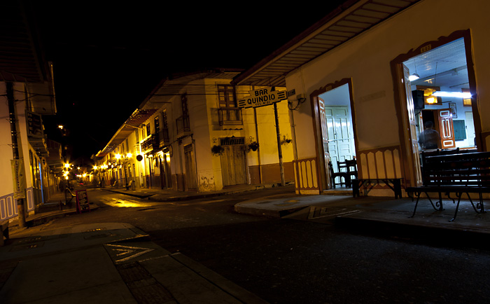 Salento (Colombia) by night