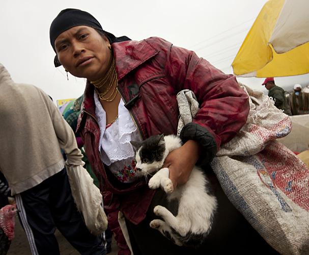 Signora con gatto, Ecuador