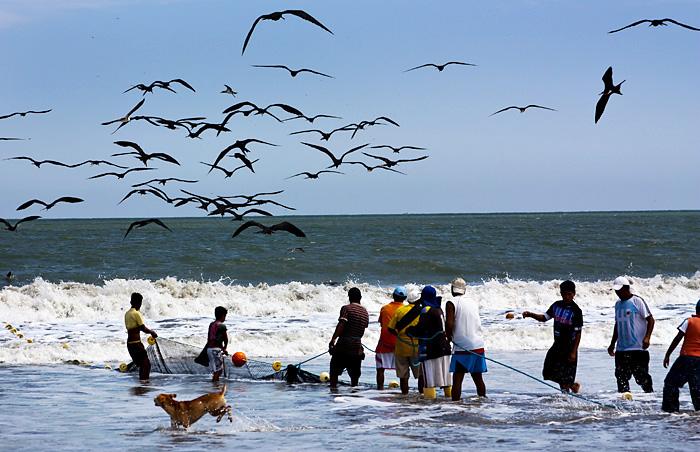 Pescatori a Guayaquil, Ecuador