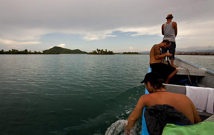 Sulla barca a San Blas, Panama