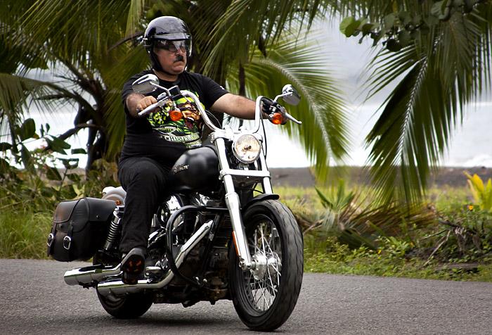 Motociclista, Puerto Vejo, Costa Rica