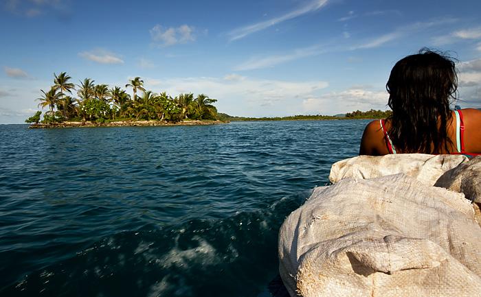 Sulla barca, Kuna Yala, Panama