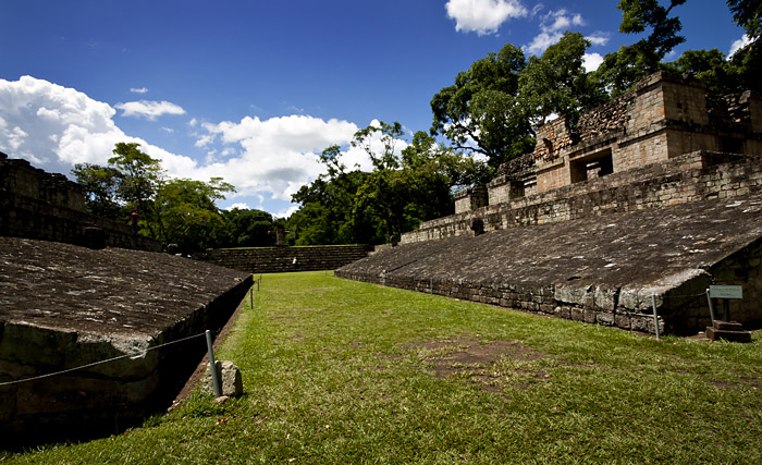 Ball court, Copan, Honduras