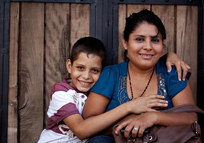 Mamma e figlio, Honduras