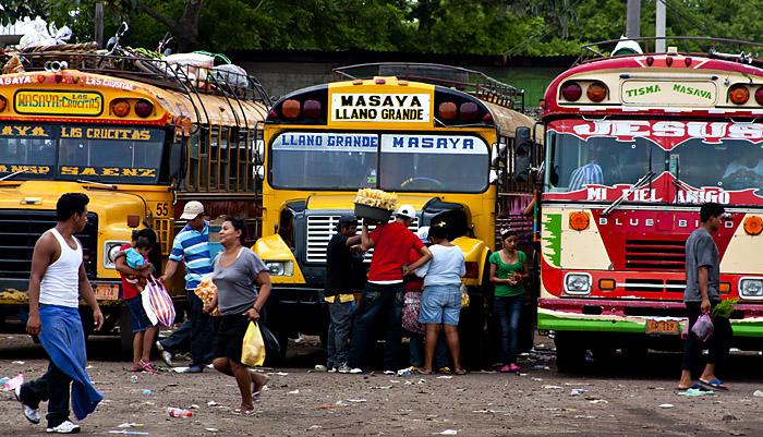 Stazione dei bus a Masaya, Nicaragua
