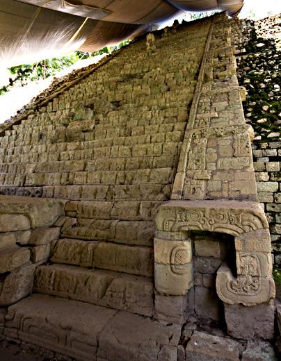 Scalinata con testo maya, Copan