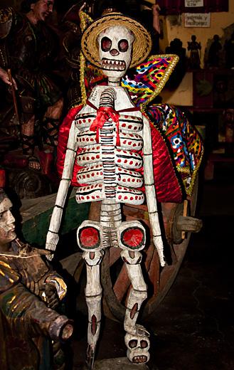 Scheletro, mercato in Guatemala