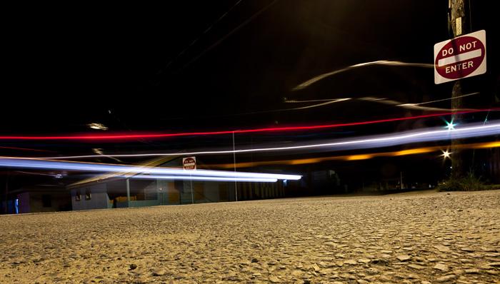 Strada di notte, Belize