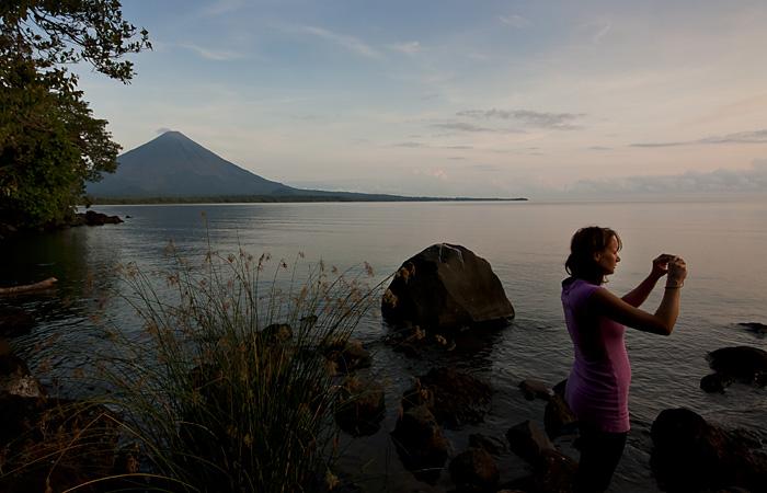Vulcano su isola Ometepe