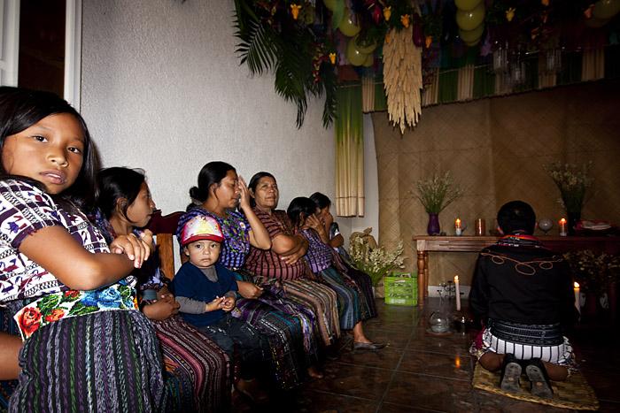 Cerimonia Maya, lago Atitlan