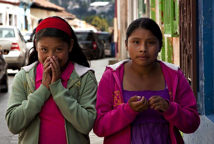 Ragazze, San Cristobal, Chiapas