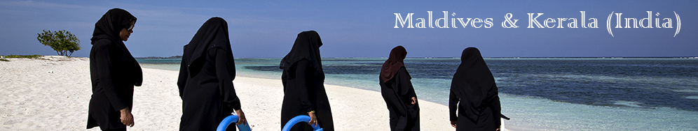 Maldivian women bath in Maldives
